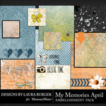 My Memories April Pocket Pieces Pack-$4.20 (Laura Burger)