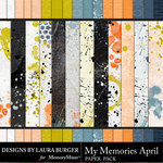 My Memories April Textured Paper Pack-$4.20 (Laura Burger)