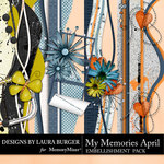 My Memories April Borders Pack-$4.99 (Laura Burger)