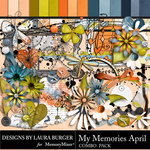 My Memories April Combo Pack-$7.99 (Laura Burger)