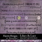 Lilacs and Lace Bracket Quotes Pack-$2.10 (Fayette Designs)
