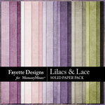 Lilacs and Lace Solids Paper Pack-$3.99 (Fayette Designs)