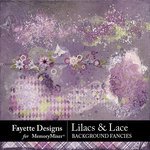 Lilacs and Lace Background Fancies-$3.99 (Fayette Designs)
