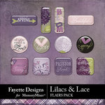 Lilacs and Lace Flairs Pack-$2.99 (Fayette Designs)