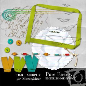 Tracimurphy pureenergy embellishments medium