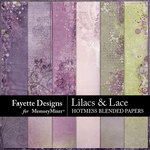 Lilacs and Lace Hotmess Blended Papers-$2.80 (Fayette Designs)