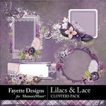 Lilacs and Lace Clusters Pack-$2.10 (Fayette Designs)