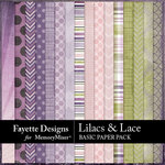 Lilacs and Lace Basic Paper Pack-$2.80 (Fayette Designs)