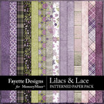 Lilacs and Lace Patterned Paper Pack-$3.15 (Fayette Designs)