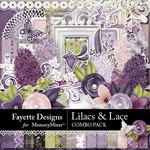 Lilacs and Lace Combo Pack-$9.00 (Fayette Designs)