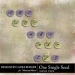 One Single Seed Alphabet Pack-$2.99 (Laura Burger)