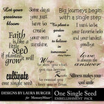 One Single Seed WordArt Pack-$3.99 (Laura Burger)