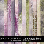 One Single Seed Grunge Paper Pack-$2.80 (Laura Burger)