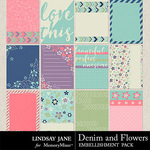 Denim and Flowers Journal Cards Pack-$1.40 (Lindsay Jane)