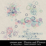Denim and Flowers Scatterz Pack-$1.40 (Lindsay Jane)