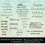 Precious Little One WordArt Pack-$4.99 (Laura Burger)