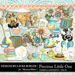 Precious Little One Add On Embellishments-$3.49 (Laura Burger)