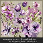 Beautifully Boho Water Colors Pack-$3.99 (Jumpstart Designs)