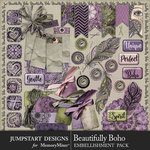 Beautifully Boho Flairs Pack-$2.80 (Jumpstart Designs)