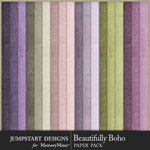 Beautifully Boho Solid Paper Pack-$2.80 (Jumpstart Designs)