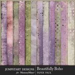 Beautifully Boho Paper Art Pack-$2.80 (Jumpstart Designs)