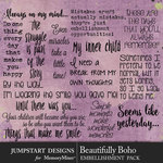 Beautifully Boho WordArt Pack-$2.80 (Jumpstart Designs)