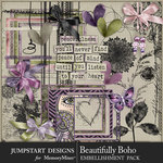 Beautifully Boho Add On Embellishments-$2.80 (Jumpstart Designs)