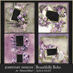 Beautifully Boho QuickPage 1-$3.99 (Jumpstart Designs)