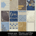 Denim and Dirt Journal Cards Pack-$1.99 (Lindsay Jane)