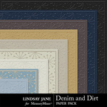 Denim and Dirt Embossed Paper Pack-$1.99 (Lindsay Jane)