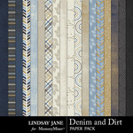 Denim and Dirt Paper Pack-$2.49 (Lindsay Jane)