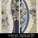Denim and Dirt Border Pack-$1.99 (Lindsay Jane)