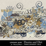 Denim and Dirt Embellishment Pack-$3.49 (Lindsay Jane)