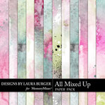 All Mixed Up Painted Paper Pack-$3.99 (Laura Burger)