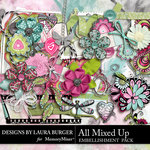 All Mixed Up Embellishments Pack-$3.99 (Laura Burger)