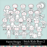 Stick Kids Boys 2 Embellishments-$4.49 (Fayette Designs)
