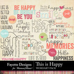 This is Happy WordArt Pack-$3.99 (Fayette Designs)