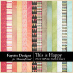This is Happy Patterned Paper Pack-$3.99 (Fayette Designs)