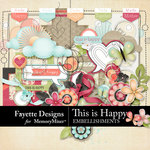 This is Happy Embellishment Pack-$4.99 (Fayette Designs)