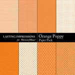 Orange Poppy Paper Pack-$2.99 (Lasting Impressions)