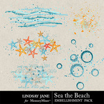 Sea the Beach Scatterz Pack-$1.99 (Lindsay Jane)
