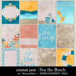 Sea the Beach Journal Cards Pack-$1.99 (Lindsay Jane)