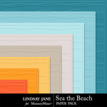 Sea the Beach Embossed Paper Pack-$1.99 (Lindsay Jane)