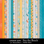 Sea the Beach Paper Pack-$2.49 (Lindsay Jane)