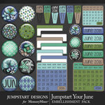 Jumpstart Your June Flairs Pack-$3.99 (Jumpstart Designs)