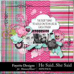 He Said She Said Mini Pack-$2.99 (Fayette Designs)