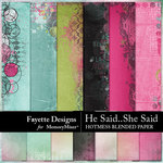 He Said She Said Hotmess Blends Paper-$3.99 (Fayette Designs)
