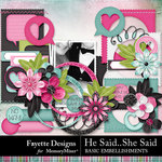 He Said She Said Basic Embellishments-$3.99 (Fayette Designs)