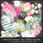Just a Walk in the Park Gesso Accents Pack-$3.99 (Jumpstart Designs)