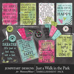 Just a Walk in the Park Quote Cards-$3.99 (Jumpstart Designs)
